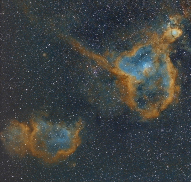 Heart Nebula IC1805 and Soul Nebula IC1848 